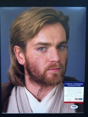 Ewan Mcgregor Signed 11x14 Photo Psa Dna Coa Star Wars Obi Wan Autograph
