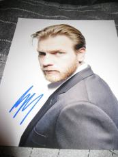 EWAN MCGREGOR SIGNED AUTOGRAPH 8x10 SEXY HUNK STAR WARS PHOTOSHOOT IN PERSON D