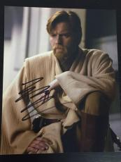 EWAN MCGREGOR SIGNED AUTOGRAPH NEW CLASSIC IMAGE STAR WARS PROMO 8x10 PHOTO COA
