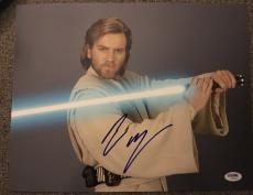 "Ewan Mcgregor Signed Autograph New ""star Wars"" Poster 11x14 Photo Psa/dna W94460"
