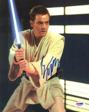 EWAN MCGREGOR SIGNED AUTOGRAPHED 8x10 PHOTO OBI WAN KENOBI STAR WARS PSA/DNA