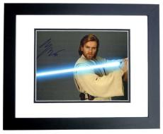 Ewan McGregor Signed - Autographed STAR WARS 11x14 inch Photo with RARE Obi-Wan Kenobi inscription BLACK CUSTOM FRAME - Guaranteed to pass PSA or JSA