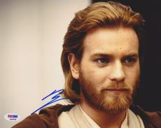 Ewan McGregor SIGNED IN PERSON 8x10 Photo Obi Wan Kenobi Star Wars PSA/DNA