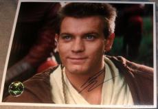 Ewan Mcgregor Signed Official Opx Logo Star Wars Photo