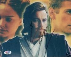 "Ewan McGregor Signed ""Star Wars"" 8x10 Photo PSA/DNA COA"