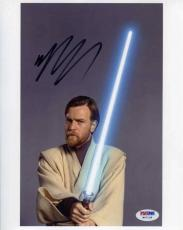 Ewan McGregor Star Wars Autographed Signed 8x10 Photo Certified PSA/DNA