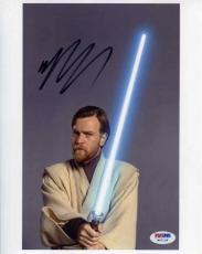 Ewan McGregor Star Wars Autographed Signed 8x10 Photo Certified PSA/DNA