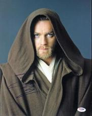 Ewan Mcgregor Star Wars Signed 11X14 Photo Autographed PSA/DNA #I27927