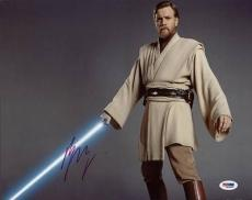 Ewan Mcgregor Star Wars Signed 11X14 Photo Autographed PSA/DNA #M42867
