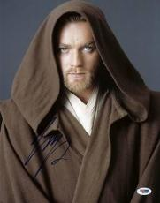 Ewan Mcgregor Star Wars Signed 11X14 Photo Autographed PSA/DNA #Q41452