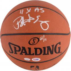 Patrick Ewing New York Knicks Autographed Pro Basketball with 11 X AS Inscription-Limited Edition of 11