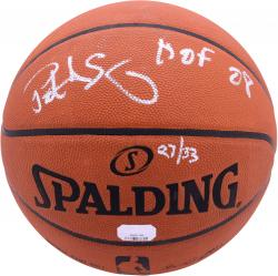 Patrick Ewing New York Knicks Autographed Pro Basketball with HOF 08 Inscriptions-Limited Edition of 33