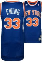 Patrick Ewing New York Knicks Autographed adidas Swingman Blue Jersey