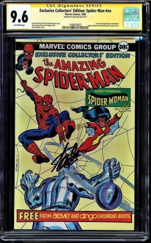 Exclusive Collectors' Ed Spider-man #nn Cgc 9.6 Ss Stan Lee Rare #1508470022