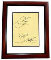 EXTANT Autographed Script by Halle Berry, Brad Beyer, and Goran Visnjic MAHOGANY CUSTOM FRAME