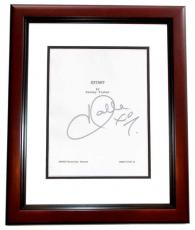 EXTANT Autographed Script Cover by Halle Berry MAHOGANY CUSTOM FRAME