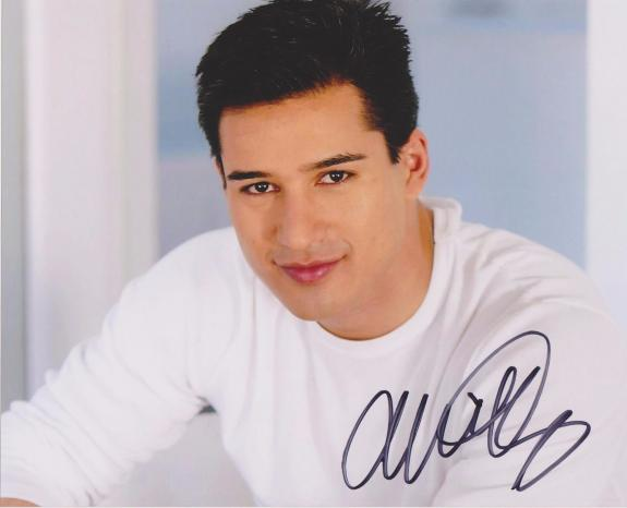 Extra Mario Lopez Signed 8x10 Photo