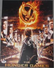 EXTREMELY RARE! Hunger Games Signed CAST 11x14 Photo by 7 PSA LOA Hutcherson WOW