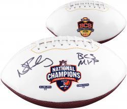 Nick Fairley Auburn Tigers Autographed Logo Football with BCS MVP Inscription