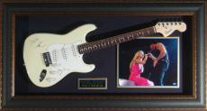 Tim McGraw Faith Hill - Laser Engraved Signature Framed Guit