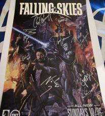 Falling Skies cast signed auto Comic-Con poster Wyle Bloodgood Carter Patton +5