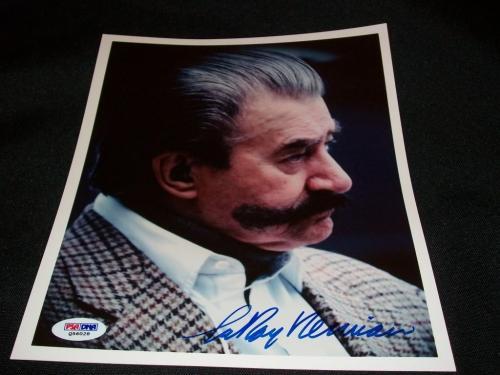 Famed Artist LeRoy Neiman (d.12) Auto Signed Vintage 8x10 Photograph PSA DNA J9