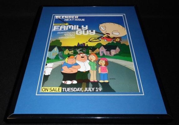 Family Guy 2005 Fox Framed 11x14 ORIGINAL Vintage Advertisement Stewie Griffin