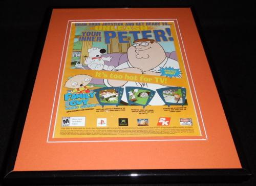 Family Guy 2006 PS2 XBox Framed 11x14 ORIGINAL Vintage Advertisement