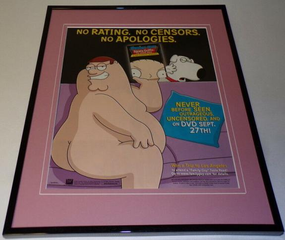 Family Guy Stewie Untold 2005 Framed ORIGINAL 11x14 Advertising Display