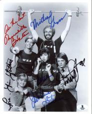 Family Ties Cast (5) Michael J. Fox, Bateman +3 Signed 8X10 Photo BAS #A00303