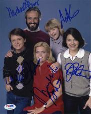 Family Ties Cast by 5 Autographed Signed 8x10 Photo Certified Authentic PSA/DNA
