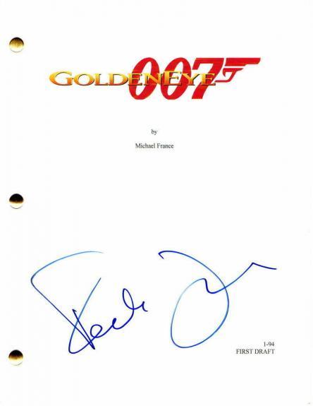 Famke Janssen Signed Autograph - Goldeneye Full Movie Script -pierce Brosnan 007