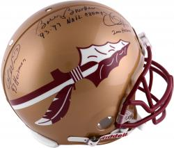 Fanatics Authentic Autographed Bobby Bowden, Chris Weinke and Charlie Ward Florida State Seminoles (FSU) Riddell Pro-Line Helmet with Multiple Inscriptions