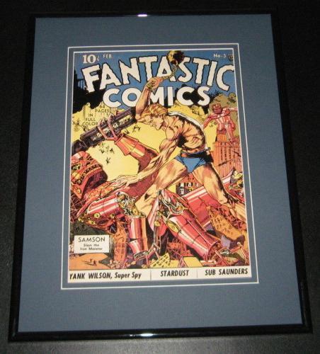 Fantastic Comics #3 Samson Framed Cover Photo Poster 11x14 Official Repro