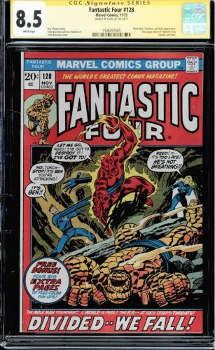 Fantastic Four #128 Cgc 8.5 White Pages Ss Stan Lee Mole Man Cgc #1508497005
