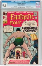 Fantastic Four #14 Cgc 9.6 Oww Sub-mariner Cover & Appearance Cgc #1028120002