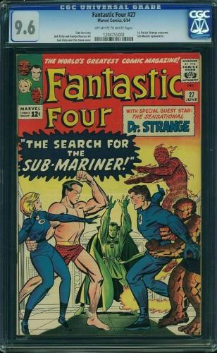 Fantastic Four #27 Cgc 9.6 Oww 1st Doctor Strange Crossover Cgc #1204755002