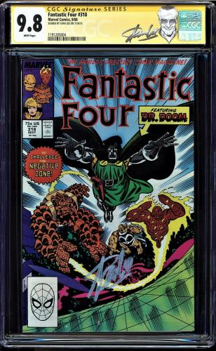 Fantastic Four #318 Cgc 9.8 White Ss Stan Lee Single Highest Graded #1191285004