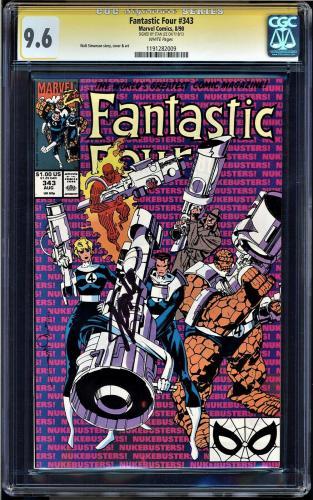Fantastic Four #343 Cgc 9.6 Ss Stan Lee Highest Graded Cgc #1191282009