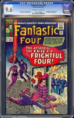 Fantastic Four #36 Cgc 9.6 Oww 1st App Medusa & Frightful Four #0717119002