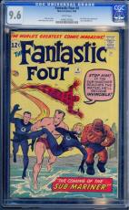 Fantastic Four #4 Cgc 9.6 W *highest Graded* 1st Sa App Sub-mariner #0096243004