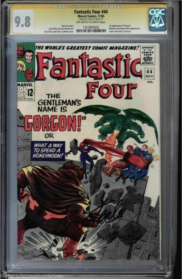 Fantastic Four #44 Cgc 9.8 Oww Ss Stan Lee Single Highest Graded #1323809002