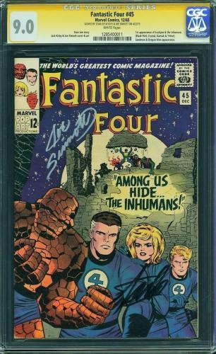 FANTASTIC FOUR #45 CGC 9.0 WHITE SS 2Xs STAN LEE & JOE SINNOTT #1285400011 mms