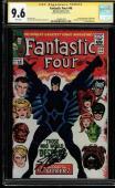 Fantastic Four #46 Cgc 9.6 White Ss Stan Lee 1st Full Black Bolt #1434691009