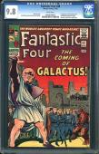 Fantastic Four #48 Cgc 9.8 White Pages 1st Silver Surfer & Galactus #1033279003