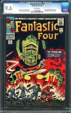 Fantastic Four #49 Cgc 9.6 White Pages 2nd Silver Surfer & Galactus #0123430003