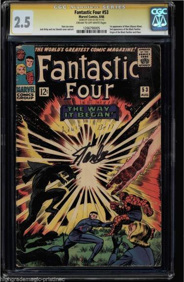 Fantastic Four #53 Cgc 2.5 Ss Stan Lee Origin 1st App Klaw #1206790005