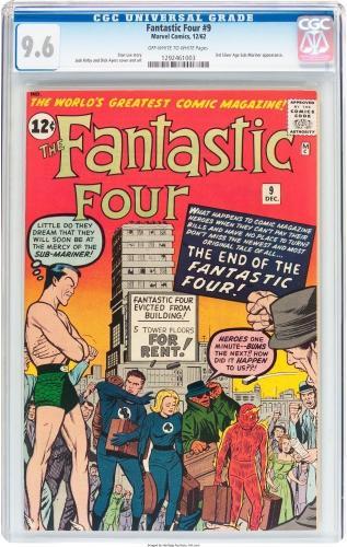 Fantastic Four #9 Cgc 9.6 Oww 3rd Silver Age App Of Sub-mariner Cgc #1292461003