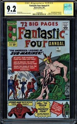 Fantastic Four Annual #1 Cgc 9.2 Oww Ss Stan Lee  Highest 1 Of 2 Cgc #1434693006