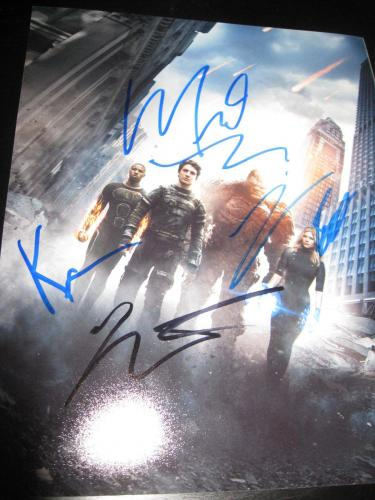 FANTASTIC FOUR CAST SIGNED AUTOGRAPH 8x10 PHOTO KATE MARA MICHAEL JORDAN BELL X1